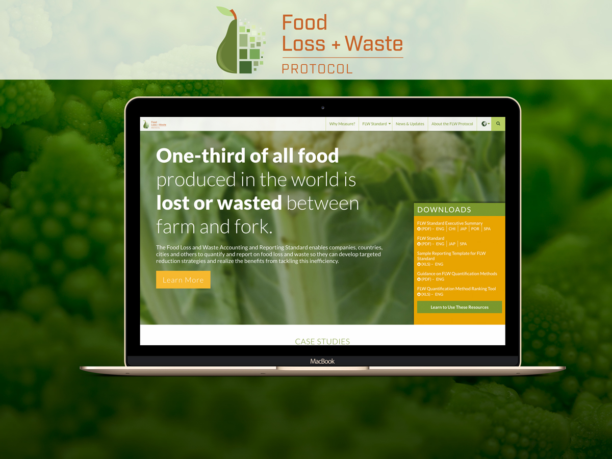 Food Loss and Waste home screen